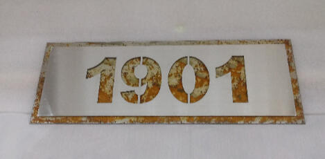 Stainless Steel over Rusted Steel Address Sign